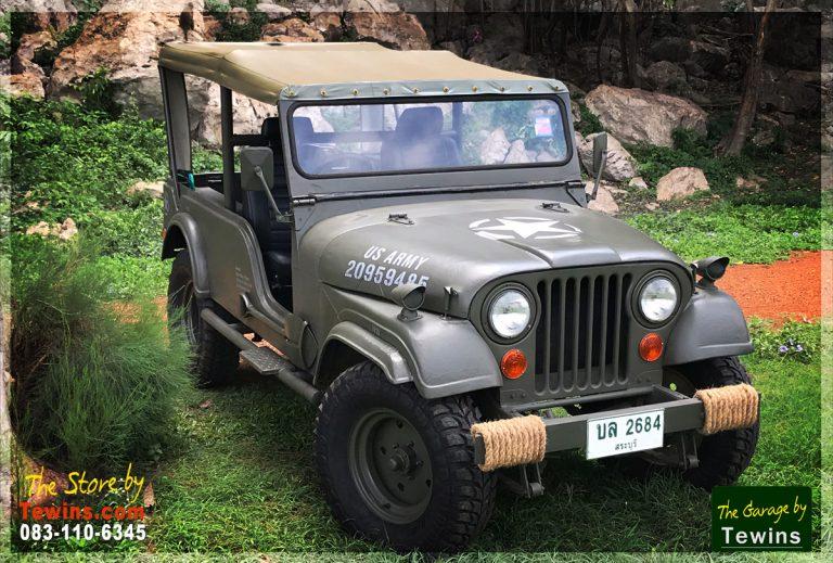 ขายรถ Jeep CJ ทหาร หลังคาผ้าใบ Diesel 4x4